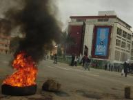 """Violencia politica y nueva jornada de protesta en el """"barrio universitario"""" de Playa Ancha"""