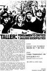 TALLERES DE PENSAMIENTO CRÍTICO Y ANÁLISIS SOCIOPOLÍTICO