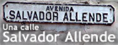 Un monumento a Salvador Allende. Gijón, España